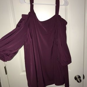 Eloquii purple long sleeve